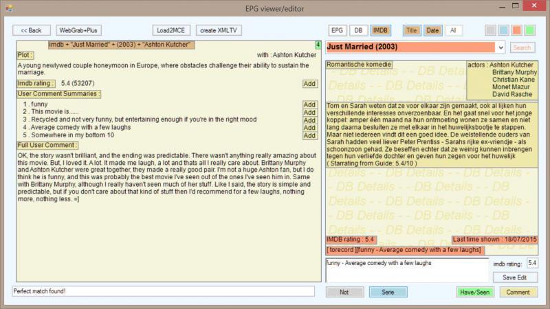 EPGViewer/Editor | WebGrab+Plus